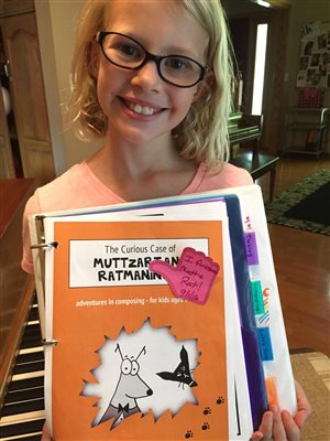 Congratulations, Addie, for finishing Muttzart and Ratmoninoff!