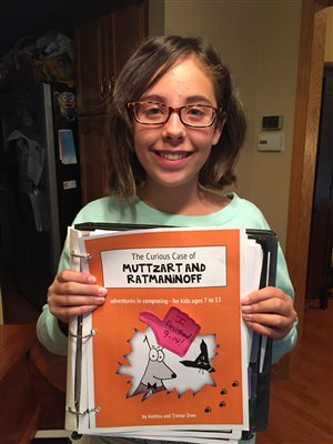 Congratulations, Haley, for finishing Muttzart and Ratmoninoff!